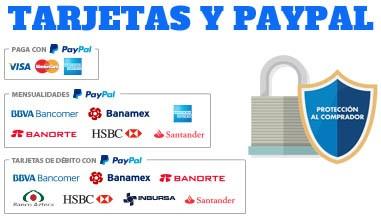 Compra Lentes de Contacto con Tarjeta y PayPal